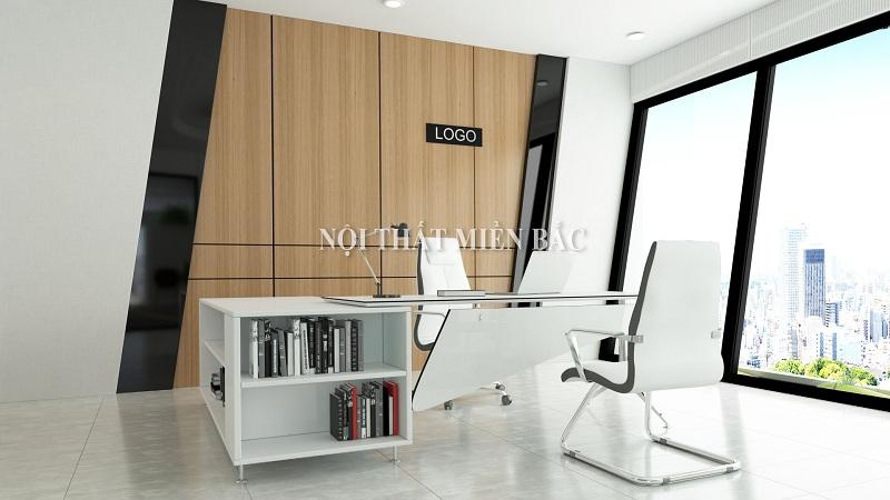 Thiết kế thi công nội thất phòng giám đốc với gam màu đơn giản