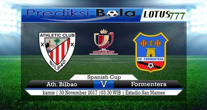 Prediksi skor Athletic Bilbao vs SD Formentera 30 November 2017