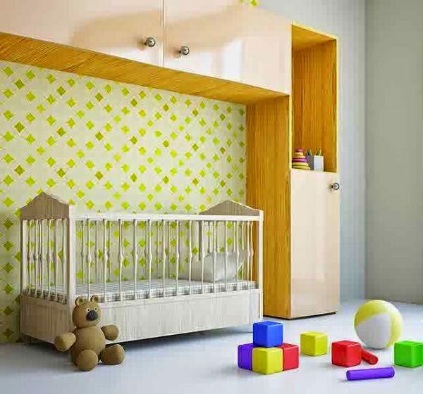 Model kamar bayi laki-laki yang elegan