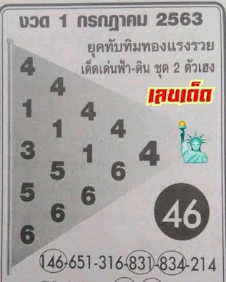 Thailand Lottery 3up Cut Digit Facebook Timeline Blogspot 01 July 2020