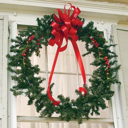 Hula-Hoop Christmas Wreath