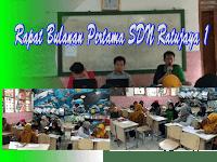 Rapat Bulanan Pertama  di SDN Ratujaya 1 yang dipimpin Pak Ahmad Sadeli