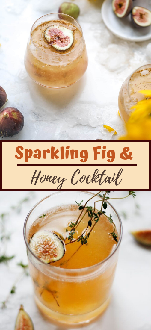 Sparkling Fig & Honey Cocktail #healthydrink #drinkrecipe #smoothiehealthy #cocktail