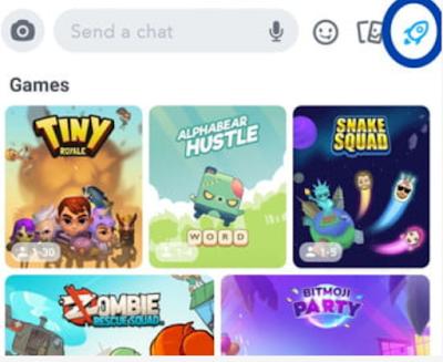 cara bermain game di obrolan grup di snapchat
