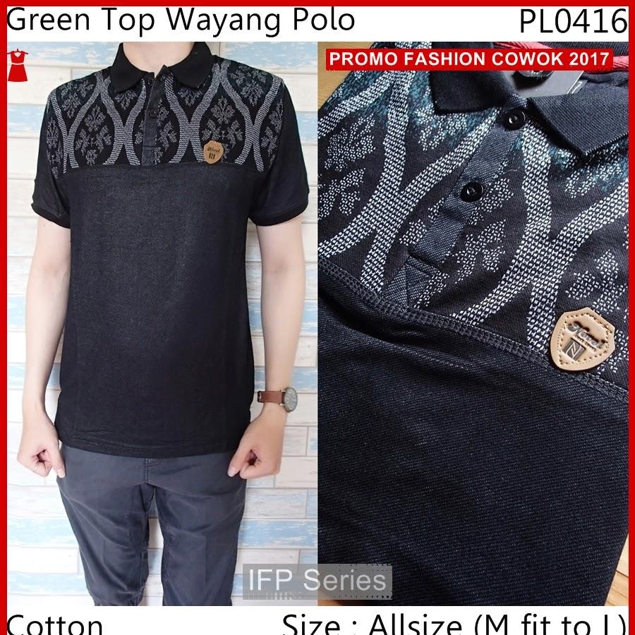 BIMFGP010 Green Kaos Polo Fashion Pria PROMO