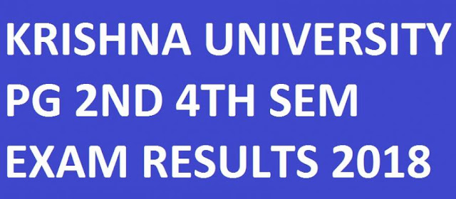 Krishna University MCA 2nd & 4th Sem Results