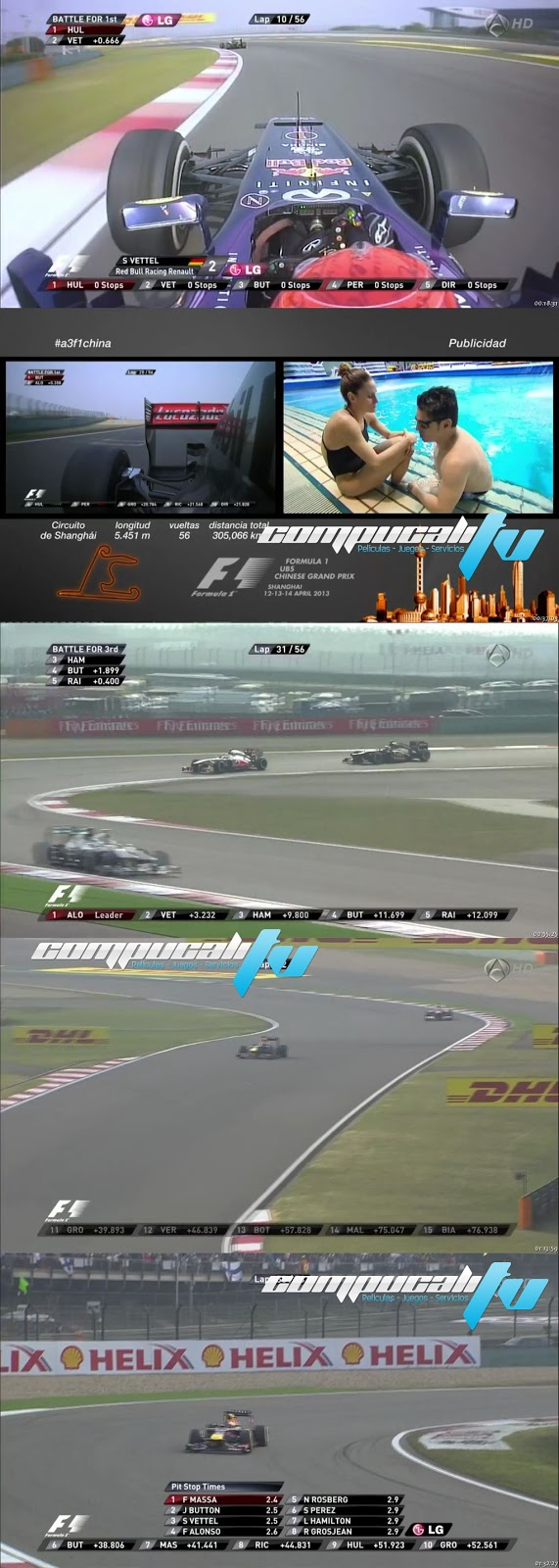 Carrera GP China Formula 1 Abril 14 HD 2013