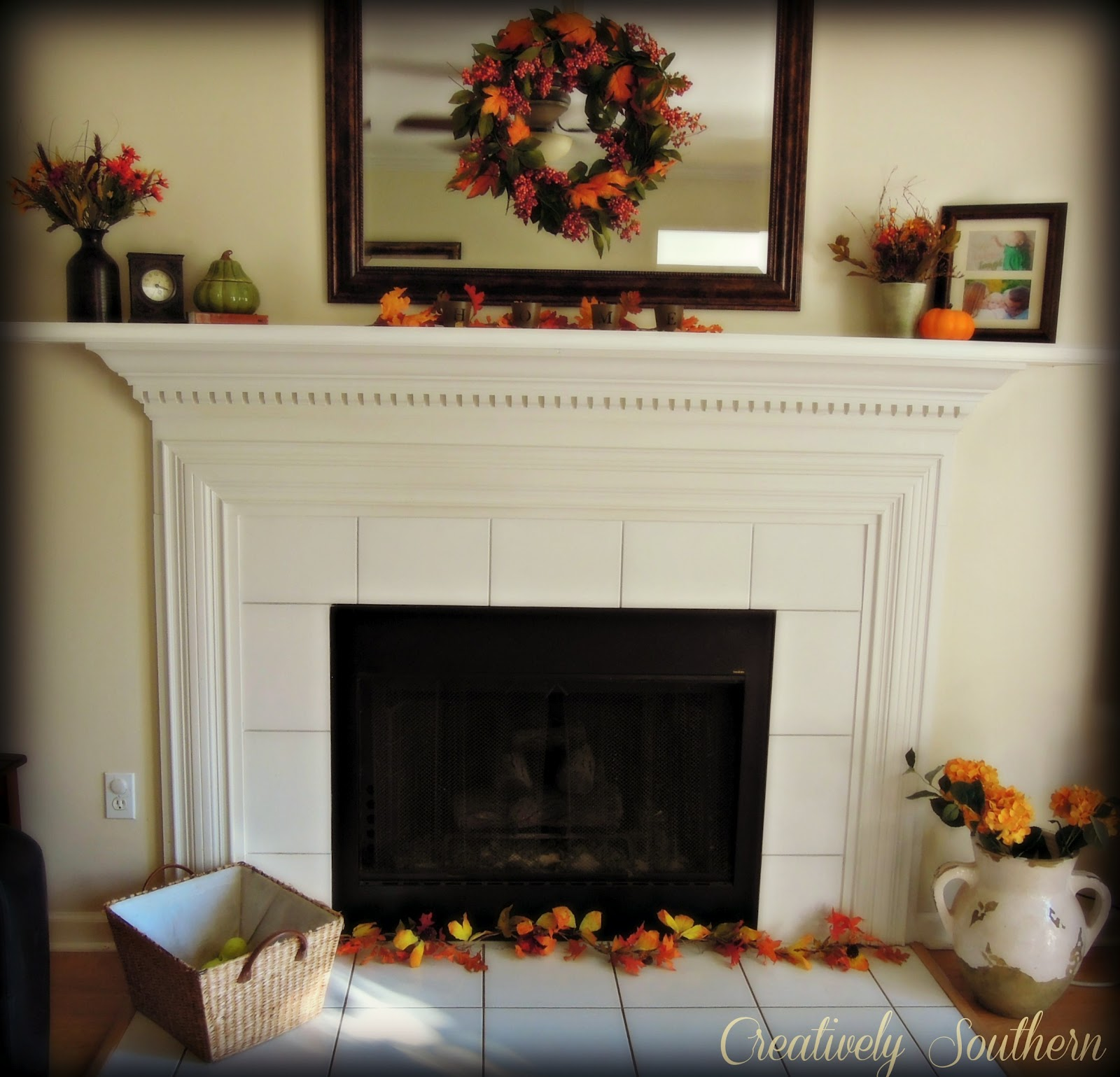 Fall Fireplace Mantel Decorating Ideas: Fall Mantel Decorating