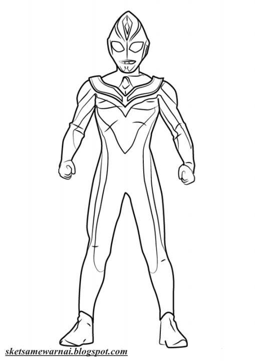 Catatanku Anak Desa Gambar Mewarnai Ultraman Cosmos