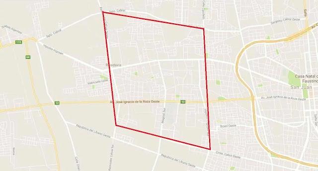 No habrá boliches en la zona marcada de Rivadavia