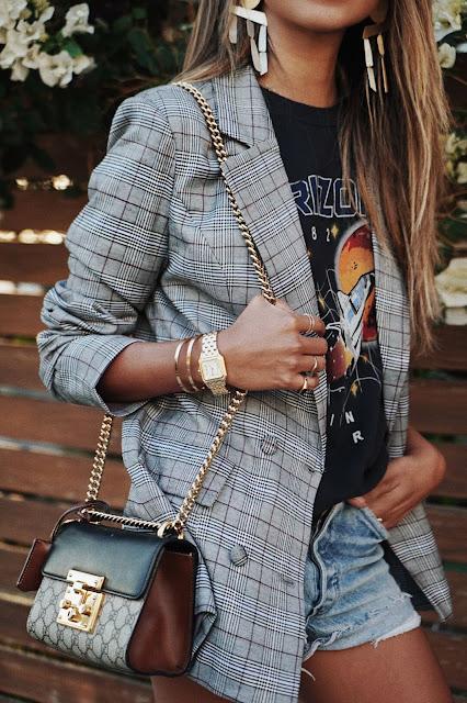 Outfit con short y blazer
