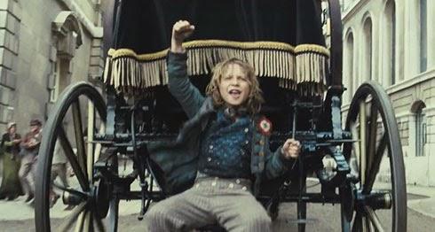 Gavroche dans le film, Les Misérables, sorti en 2012.