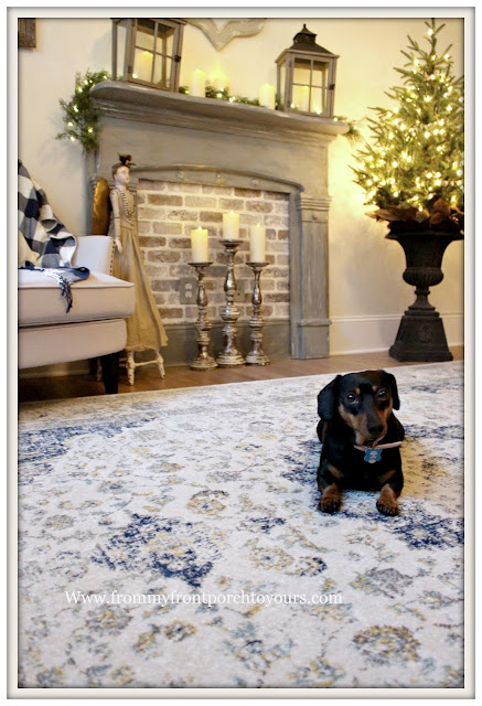 French Country-French Farmhouse-Christmas-Bedroom-Mini-Doxie-From My From Porch To Yours