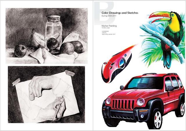 設計作品集 (Design Portfolio) 範例 設計表現技法,設計手繪技巧教學3