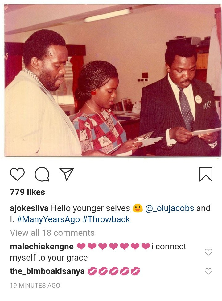 j2 - Pretty throwback picture of Olu Jacobs and spouse Joke Silva