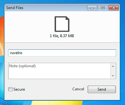اسهل طريقة  لإرسال ملفات كبيرة الحجم مباشرة من حاسوبك إلى حاسوب آخر بعيد والعكس برنامج صغير