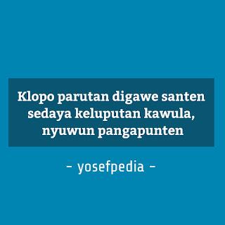 Pantun Penutup Pidato Bahasa Jawa