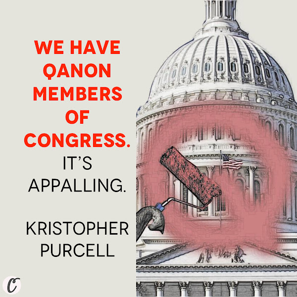 We have QAnon members of Congress. It's appalling. — Kristopher Purcell, worked in the Bush White House's communications office for six years