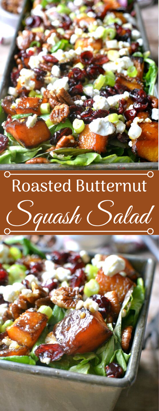 ROASTED BUTTERNUT SQUASH SALAD #vegetable #salad #easy #food #healthydinner