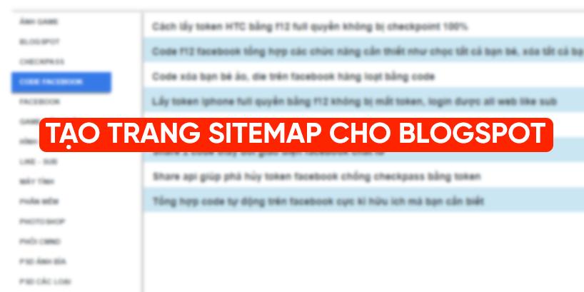 Hướng dẫn tạo trang sitemap cho blogspot cực đẹp