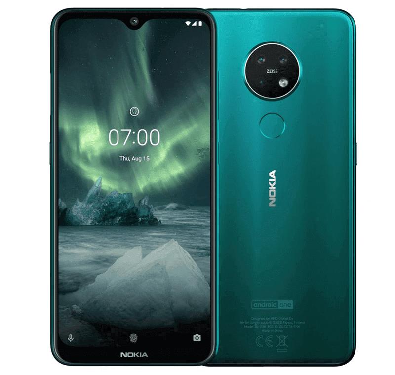 Nokia 7.2 in Cyan Green
