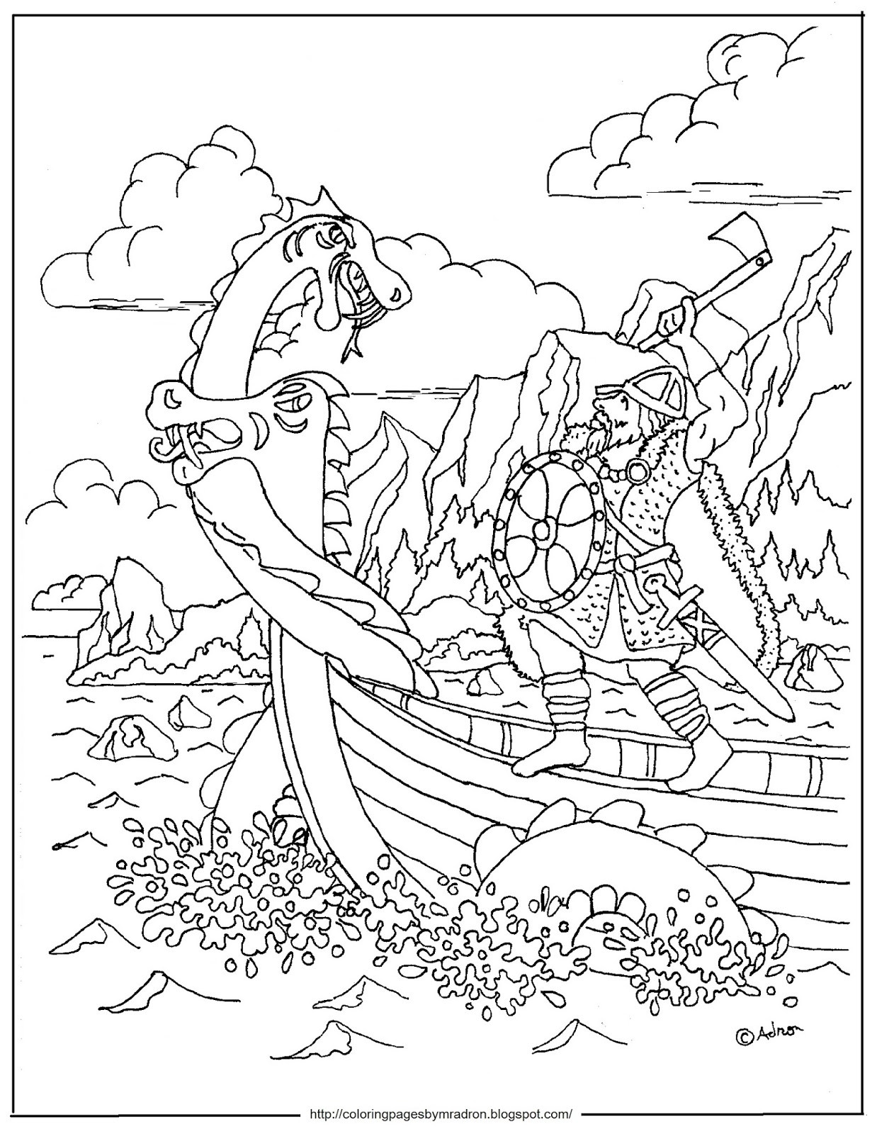 sea monster coloring pages - photo#39