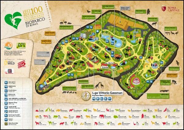 Plan du Zoo de Rome