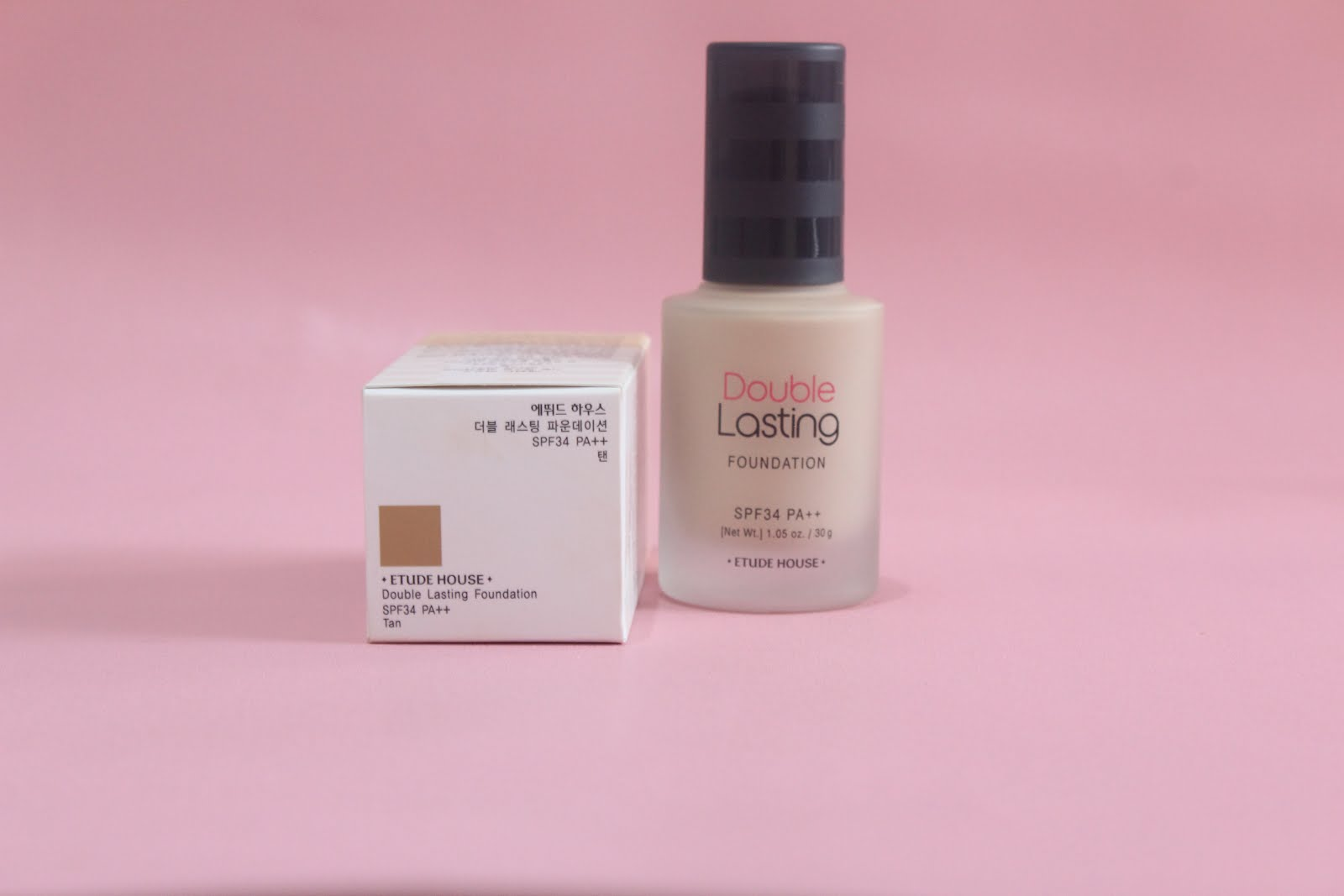 Review & Demo: Etude House Double Lasting Foundation ...