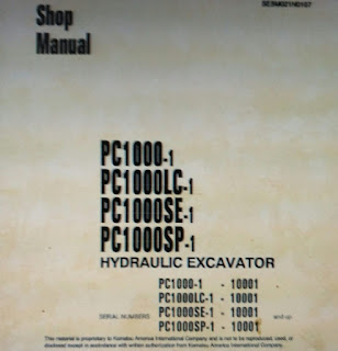 Komatsu pc1000-1 pc1000lc-1 pc1000se-1 pc1000sp-1