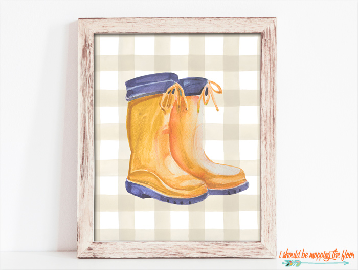 Wellies Printable