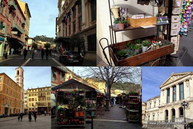 tiendas de lavanda en el casco antiguo de Niza
