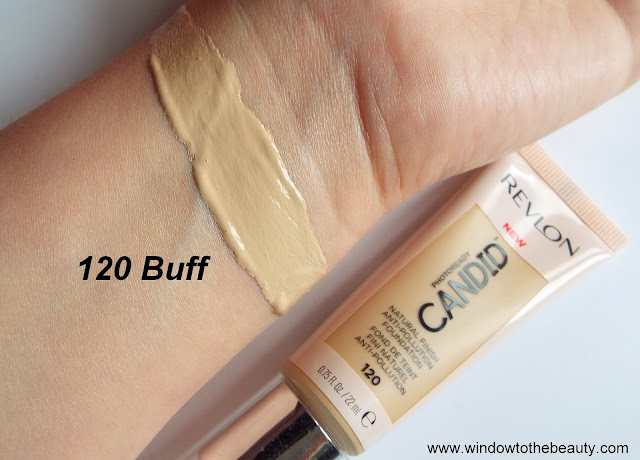 Revlon Candid shade 120 buff swatches and review