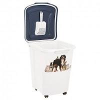 Rotho Pet Food Container 38 L Blanc avec pelle