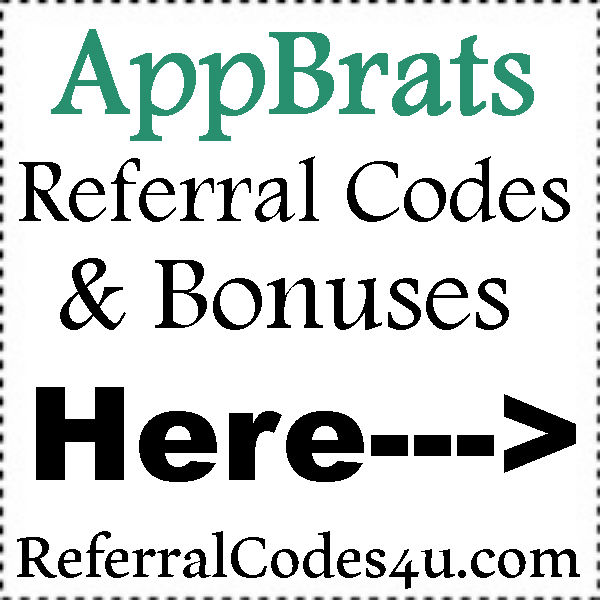 AppBrats Referral Codes 2016-2017, AppBrats Bonus, AppBrats Refer A Friend