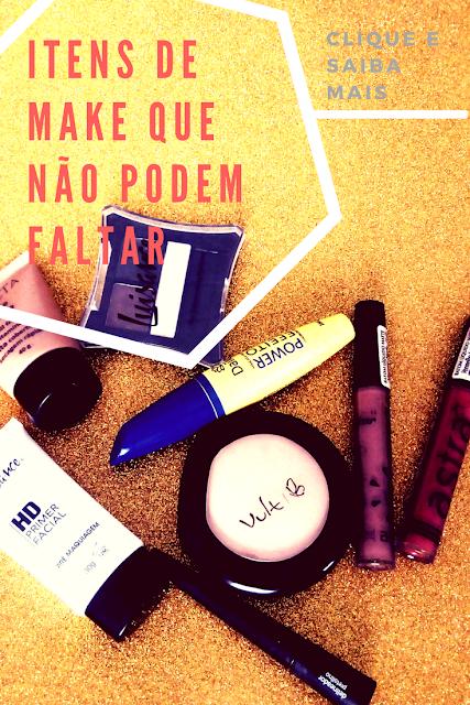 Itens indispensáveis de maquiagem