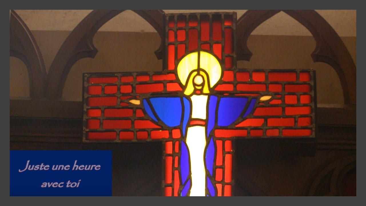 croix vers le tabernacle, église de Boën