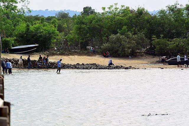 Bentangan pasir di sudut lain pantai Kutang