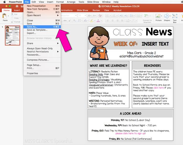 Digital Classroom Newsletter