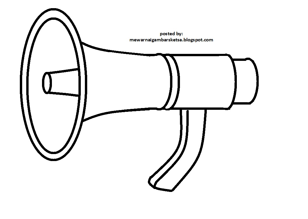 Mewarnai Gambar Sketsa Terompet Horn