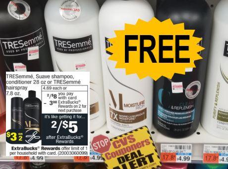 free Tresemme cvs deals