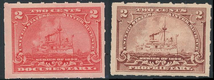 1898 Revenues Tracking Values Rb27 2 Cent Battleship