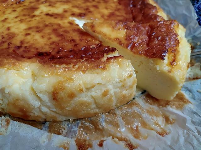 Receta de tarta de queso del restaurante La Viña (San Sebastián) Spanish Cheesecake Postre Fácil Cremosa Horno Cuca