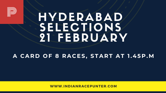 Hyderabad Race Selections 21 February