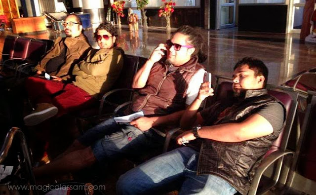 papon with team airport