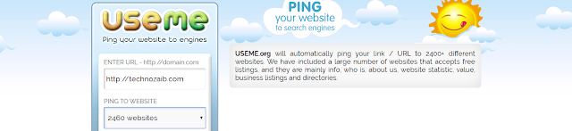 In this tool, there are thousands of backlinks pings your site easily by submitting your domain.