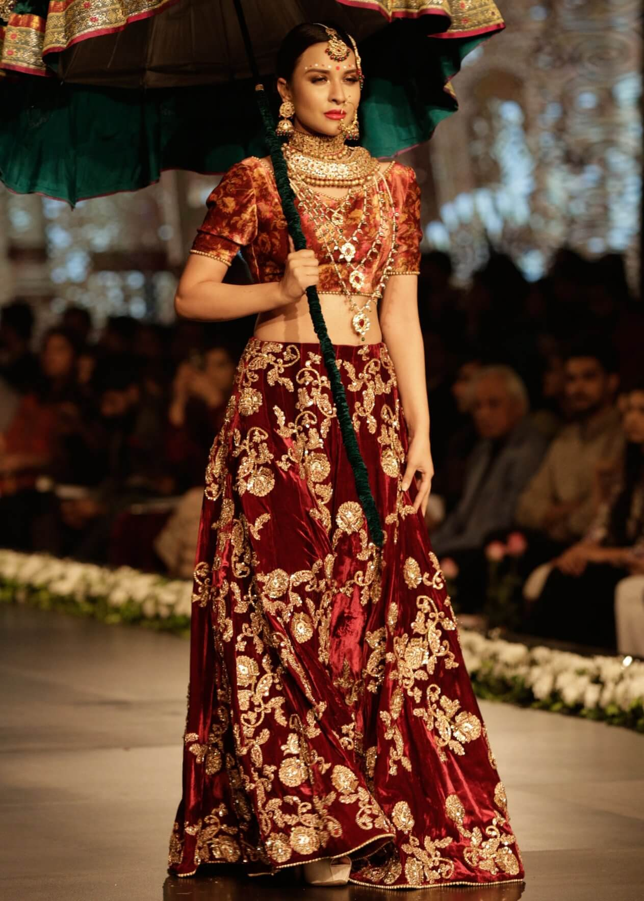Red Bridal Dresses for Barat by Mohsin Ranjha's Latest Bridal Collection