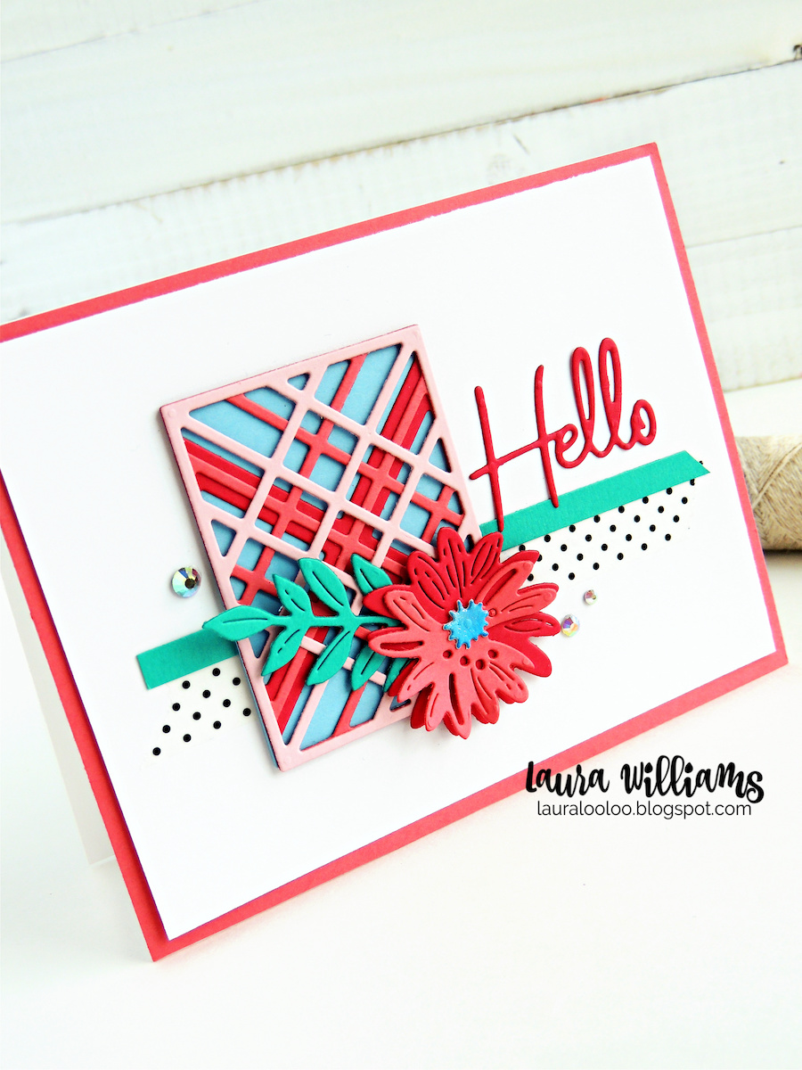 Let's look at another card featuring the Simply Perfect collection! This one features some sweet die sets that you'll use all year long. The Kaleidoscope Plaid Die Set was released at Christmastime but we're giving it a springtime twist this season. Let's take a look at this clever die set from Spellbinders Paper Arts. Visit my blog to see this and more ideas with Spellbinders dies and stamps for handmade cardmaking and paper crafting projects.