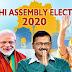 दिल्ली विधानसभा चुनाव - शाम पांच बजे तक हुआ 54 फीसद मतदान