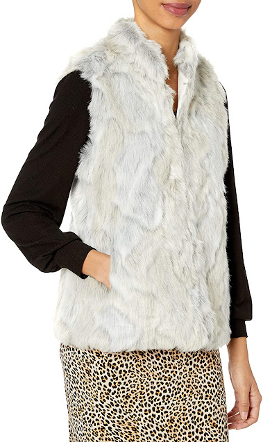 White Fur Vests For Women