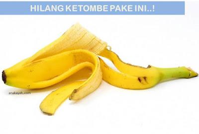 menghilangkan ketombe dengan kulit pisang